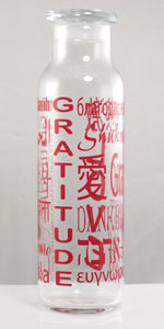 22 oz Glass Bottle - Red